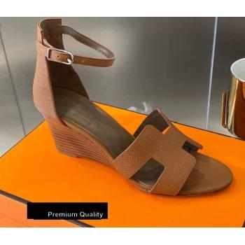 Hermes Heel 7cm Legend Sandals Brown 2020 (modeng-20080406)