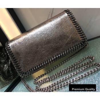 Stella Mccartney Falabella Cross Body Bag 22cm Crinkled Silver (weijian-20082603)