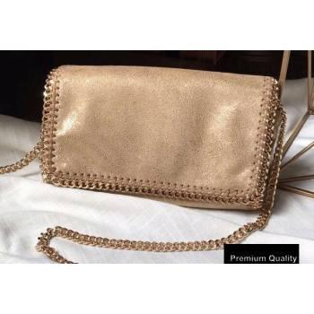 Stella Mccartney Falabella Cross Body Bag 22cm Pearl Gold (weijian-20082604)