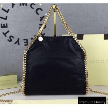 Stella Mccartney Falabella Mini Tote Bag Black/Gold (weijian-20082524)
