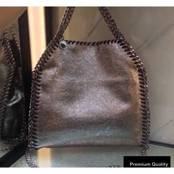 Stella Mccartney Falabella Mini Tote Bag Crinkled Silver (weijian-20082512)