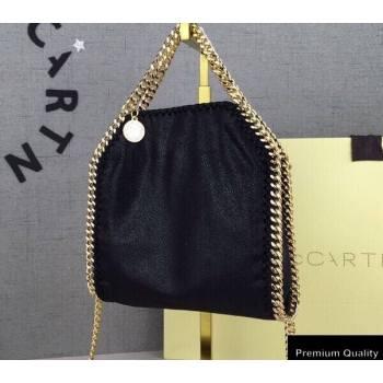 Stella Mccartney Falabella Tiny Tote Bag Black/Gold (weijian-20082540)