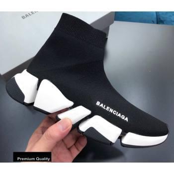 Balenciaga Knit Sock Speed Sneakers Boots Black (nihao-20090401)