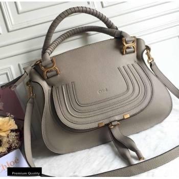 Chloe Small Marcie Handbag in Grain Calfskin Gray (yaoyao-20090708)
