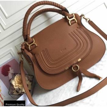 Chloe Small Marcie Handbag in Grain Calfskin Tan (yaoyao-20090704)