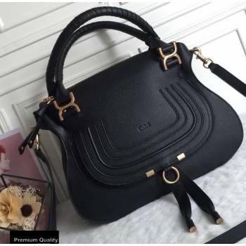 Chloe Small Marcie Handbag in Grain Calfskin Black (yaoyao-20090701)