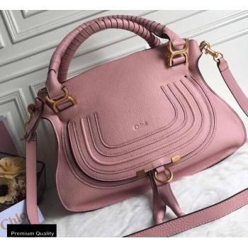 Chloe Small Marcie Handbag in Grain Calfskin Pink (yaoyao-20090706)