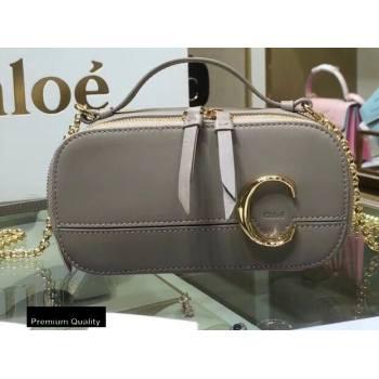Chloe C Mini Vanity Bag in Calfskin Gray (yaoyao-20090721)