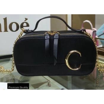 Chloe C Mini Vanity Bag in Calfskin Black (yaoyao-20090718)
