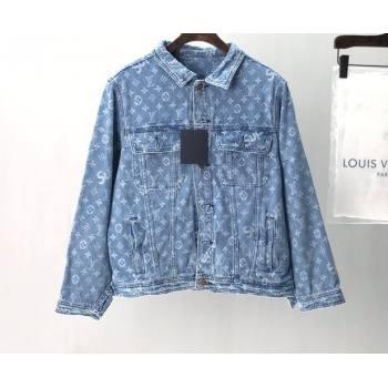 Louis Vuitton x Supreme Monogram Denim Jacket 2020 (fangfang-20091430)