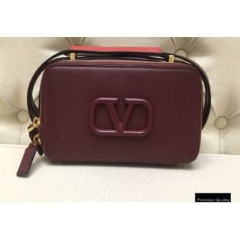 Valentino VSLING Calfskin Camera Bag Burgundy 2020 (liankafo-20101402)
