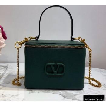 Valentino VSLING Calfskin Vanity Case Bag Green 2020 (liankafo-20101409)