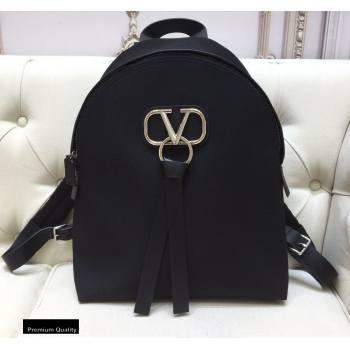 Valentino VRing Nylon Backpack Bag Black 2020 (liankafo-20101437)