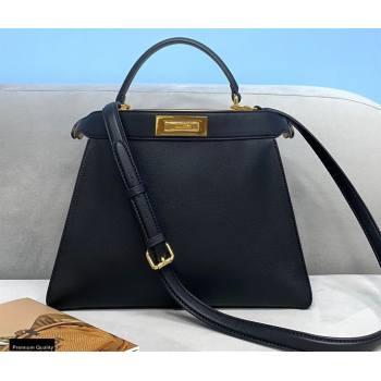 Fendi Iconic Peekaboo ISEEU Medium Bag Black 2020 (chaoliu-20102306)