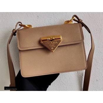Prada Saffiano Leather Symbole Shoulder Bag 1BD270 Beige 2020 (ziyin-20102318)