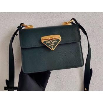 Prada Saffiano Leather Symbole Shoulder Bag 1BD270 Dark Green 2020 (ziyin-20102317)