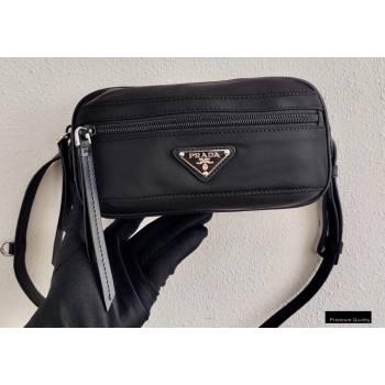 Prada Fabric and Leather Belt Bag 1BL012 Black 2020 (ziyin-20102333)