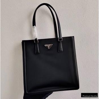 Prada Leather and Nylon Tote Bag 1BG363 Black 2020 (ziyin-20102332)