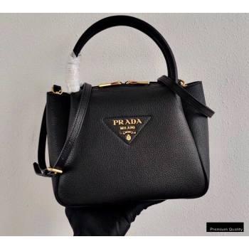 Prada Small Leather HandBag 1BC145 Black 2020 (ziyin-20102331)