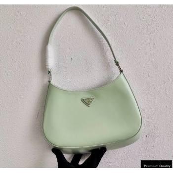 Prada Cleo Brushed Leather Shoulder Bag 1BC499 Aqua Green 2020 (ziyin-20102322)