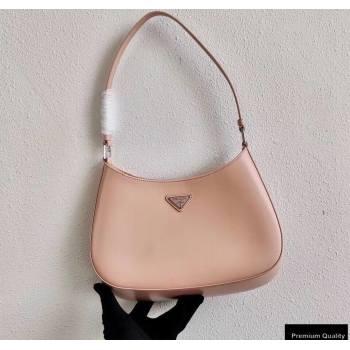 Prada Cleo Brushed Leather Shoulder Bag 1BC499 Orchid Pink 2020 (ziyin-20102321)