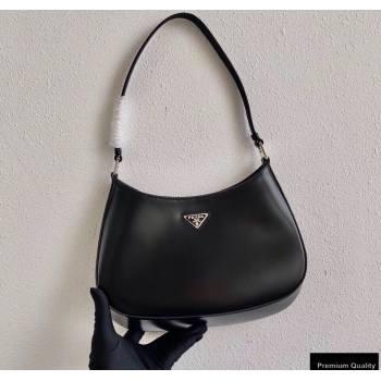 Prada Cleo Brushed Leather Shoulder Bag 1BC499 Black 2020 (ziyin-20102319)