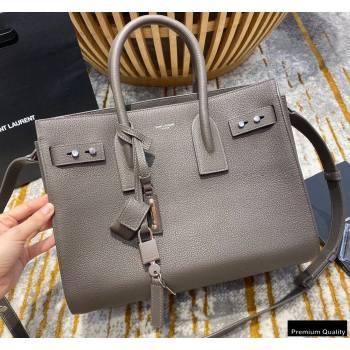 Saint Laurent Classic Small Sac De Jour Bag in Grained Leather 494960 Gray (jun-20102406)