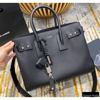 Saint Laurent Classic Small Sac De Jour Bag in Grained Leather 494960 Black (jun-20102404)