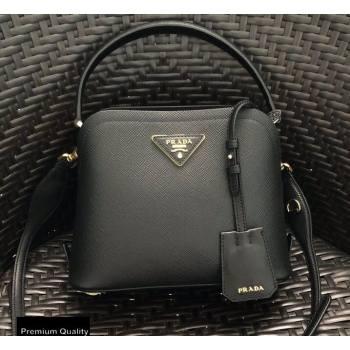 Prada Micro Saffiano Leather Matinee Bag 1BA286 Black 2020 (gongyifang-20110615)