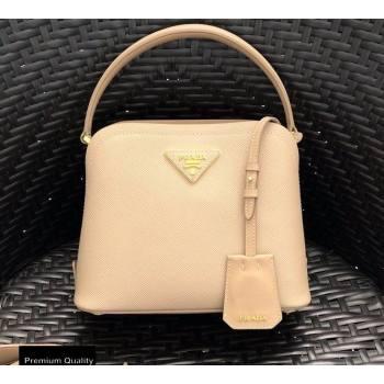 Prada Micro Saffiano Leather Matinee Bag 1BA286 Beige 2020 (gongyifang-20110619)