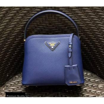 Prada Micro Saffiano Leather Matinee Bag 1BA286 Blue 2020 (gongyifang-20110616)