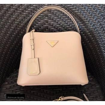 Prada Medium Saffiano Leather Matinee Bag 1BA282 Beige 2020 (gongyifang-20110614)