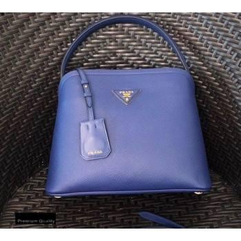 Prada Medium Saffiano Leather Matinee Bag 1BA282 Blue 2020 (gongyifang-20110611)