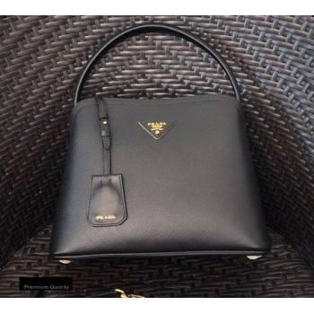 Prada Medium Saffiano Leather Matinee Bag 1BA282 Black 2020 (gongyifang-20110607)