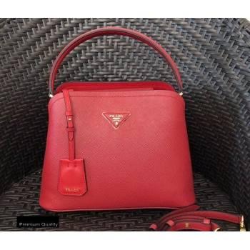 Prada Medium Saffiano Leather Matinee Bag 1BA282 Red 2020 (gongyifang-20110608)