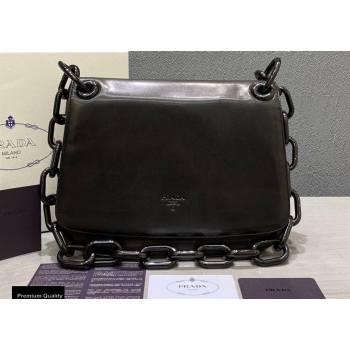 Prada Vintage Chain Shoulder Bag 6671 Leather Black 2020 (weipin-20110601)