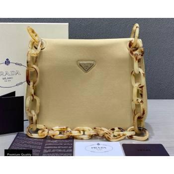 Prada Vintage Chain Shoulder Bag 6671 Fabric Beige 2020 (weipin-20110603)