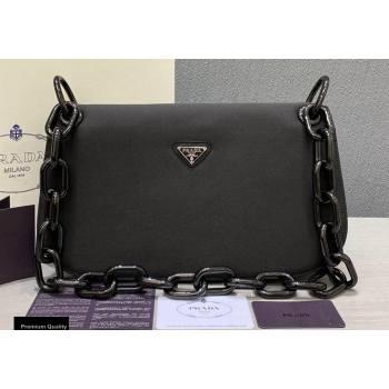Prada Vintage Chain Shoulder Bag 6690 Fabric Black 2020 (weipin-20110604)