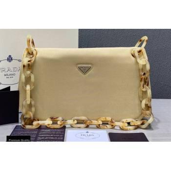 Prada Vintage Chain Shoulder Bag 6690 Fabric Beige 2020 (weipin-20110605)