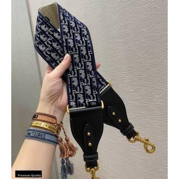Dior Oblique Embroidered Velvet Shoulder Strap Blue 2020 (vivi-20111123 )