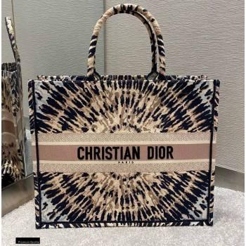 Dior Book Tote Bag in Multicolor Tie Embroidery 2020 (vivi-20112516)