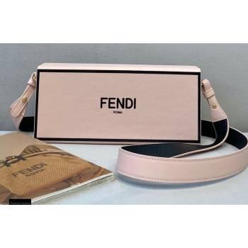 Fendi Leather Rigid Horizontal Box Bag Pale Pink 2020 (chaoliu-20120837)