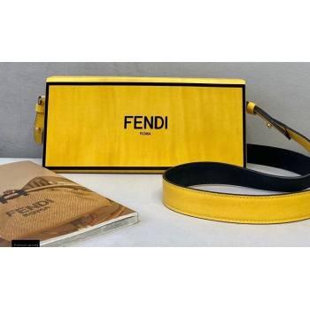 Fendi Leather Rigid Horizontal Box Bag Yellow 2020 (chaoliu-20120836)