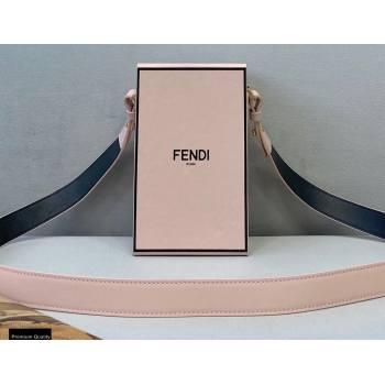 Fendi Leather Stiff Vertical Box Bag Pale Pink 2020 (chaoliu-20120839)