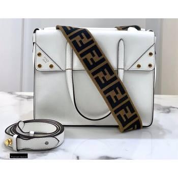 Fendi Flip Regular Medium Tote Bag White (chaoliu-20120814)