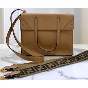 Fendi Flip Regular Medium Tote Bag Light Brown (chaoliu-20120812)