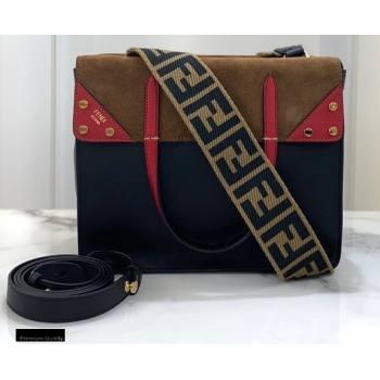 Fendi Flip Regular Medium Tote Bag Black (chaoliu-20120807)