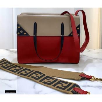 Fendi Flip Regular Medium Tote Bag Red (chaoliu-20120810)