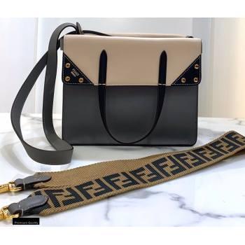 Fendi Flip Regular Medium Tote Bag Gray/Black (chaoliu-20120808)