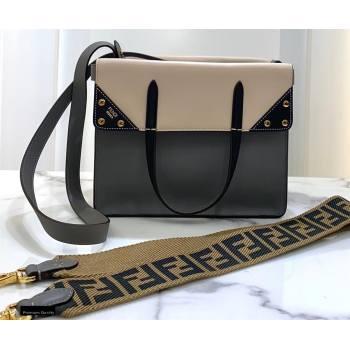 Fendi Flip Large Tote Bag Gray/Black (chaoliu-20120803)